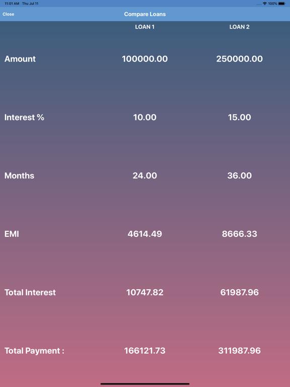 EMI Calculator screenshot #4