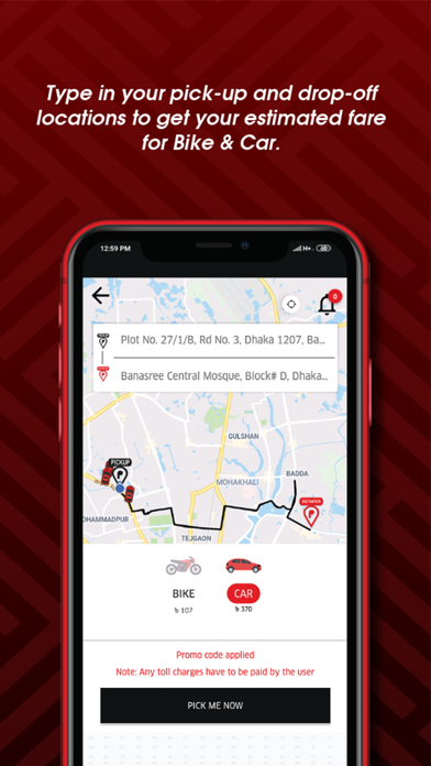 Screenshot for Piickme - Ride With Freedom in United States App Store