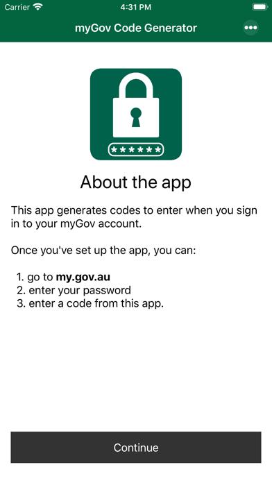 Screenshot for myGov Code Generator in Australia App Store