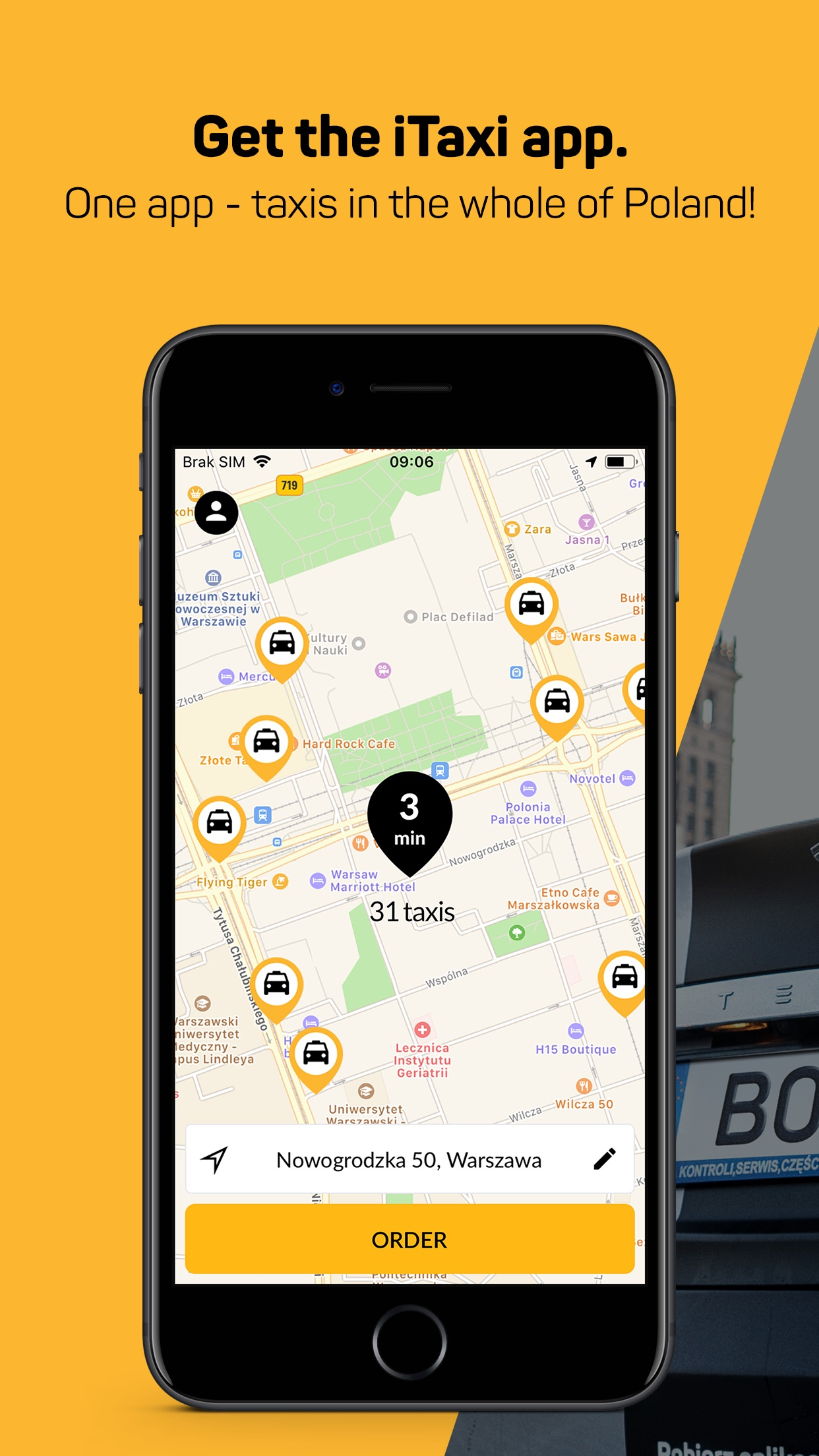 iTaxi - The Taxi App Screenshot