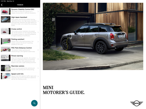 MINI Motorer's Guide by BMW (iOS, United States) - SearchMan