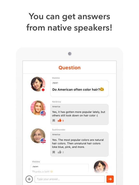 HiNative - Learn foreign languages from native speakers! - Powered by Lang-8 screenshot