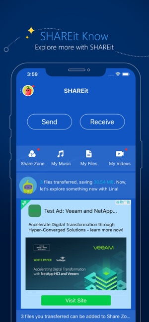‎SHAREit - Connect & Transfer Screenshot