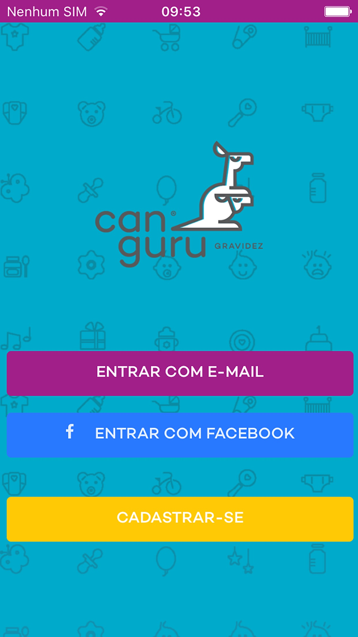 Screenshot do app Canguru Gravidez