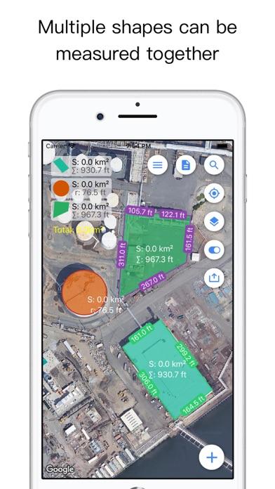 Planimeter Pro for map measure Screenshots