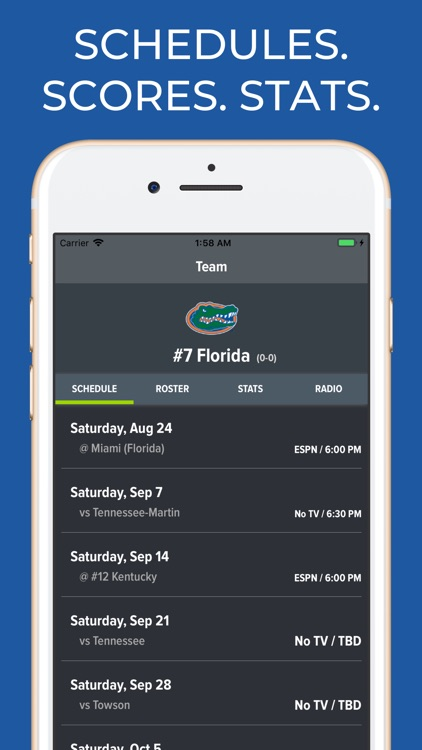 Florida Football Schedules