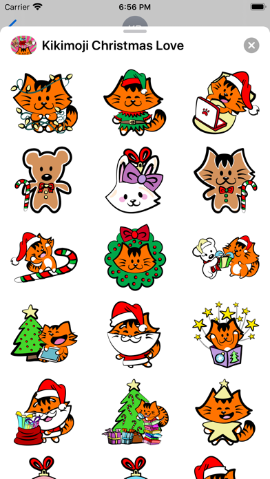 Kikimoji Christmas Love screenshot 3