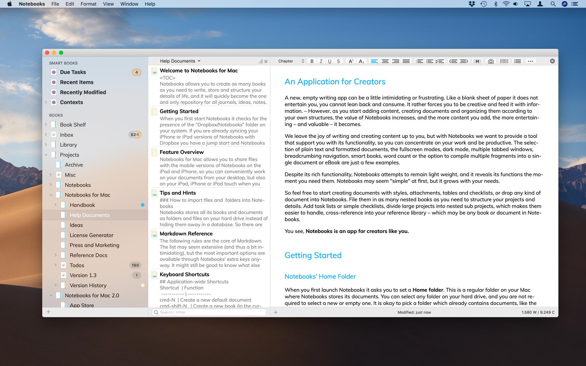 Notebooks 2.4.3 Mac 破解版 强大的文档管理和日程备忘工具