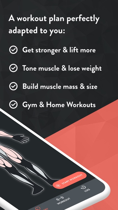 Fitbod Gym & Home Workout Log Screenshot