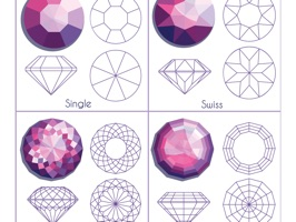 The DiamondShapesSt is a beauty sticker, which are designed with the diamond shapes