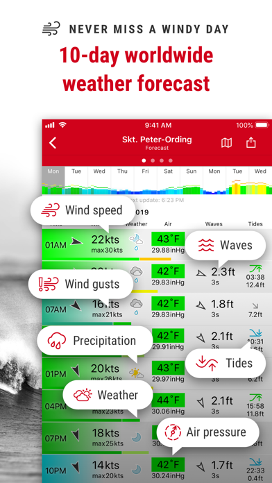 Screenshot for Windfinder Pro in United Arab Emirates App Store