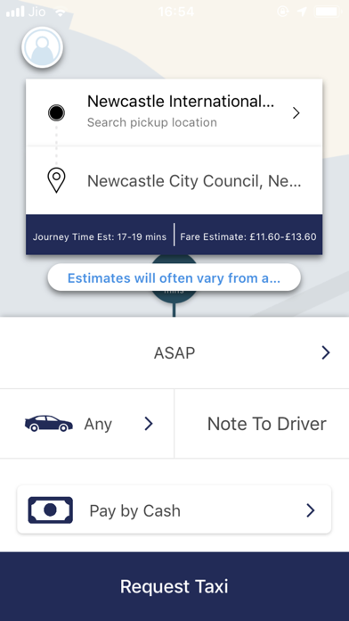 Blueline Taxis screenshot two