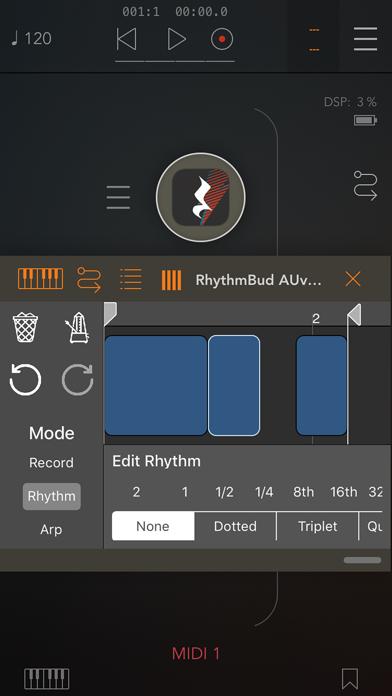 RhythmBud - AUv3 MIDI FX screenshot 1
