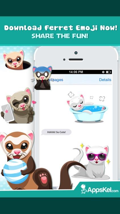 Ferret Pet Emojis Stickers App screenshot-4