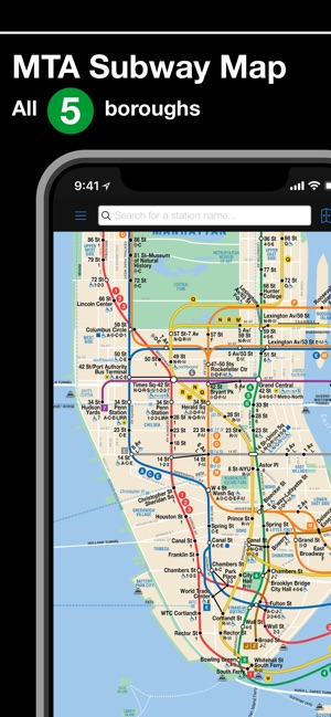 Queens And Manhatan Subway Map.New York Subway Mta Map On The App Store