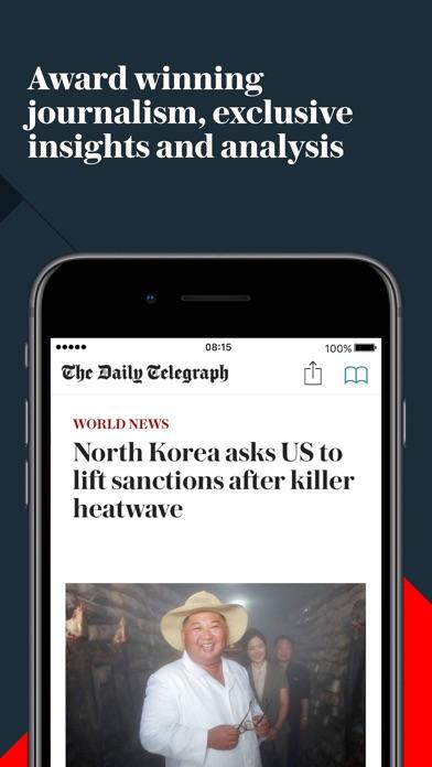 Screenshot for Telegraph Newspaper Edition UK in Peru App Store