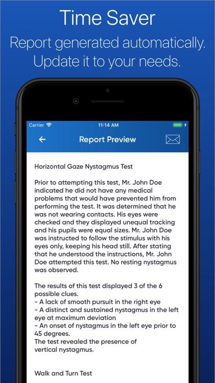 SFST Report - DUI Note Taking screenshot-3
