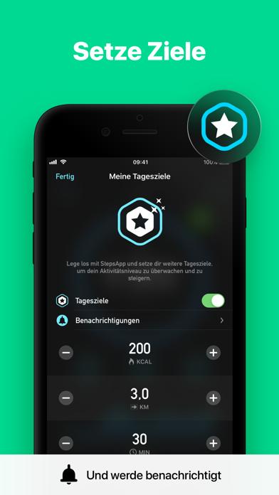 Herunterladen StepsApp Schrittzähler für Pc