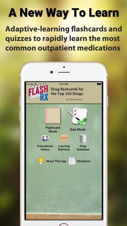 FlashRX - Top 250 Drugs screenshot-0