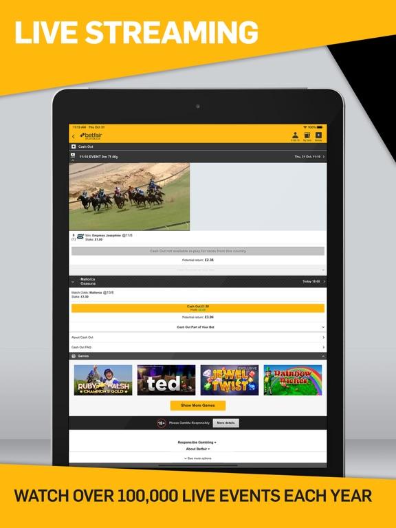 Screenshots for Betfair Sports Betting