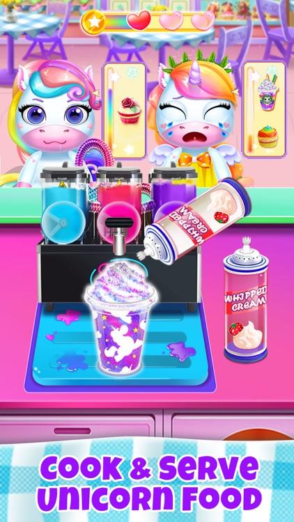 Unicorn Restaurant: Food Games screenshot-0