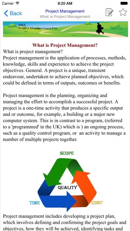 MBA Project Management Pro screenshot-3