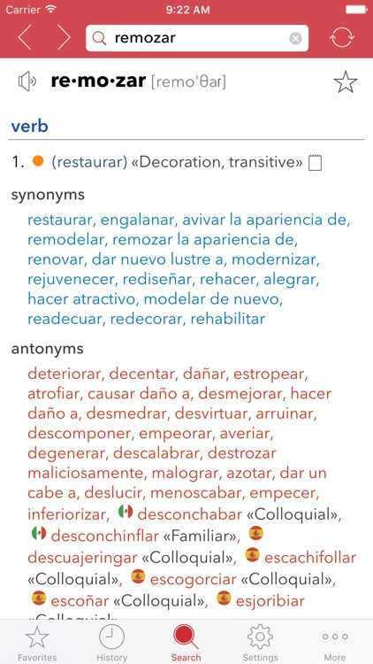 Spanish Thesaurus screenshot-3