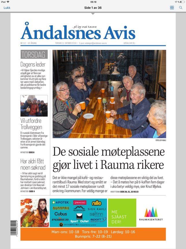 Andalsnes Avis Eavis On The App Store