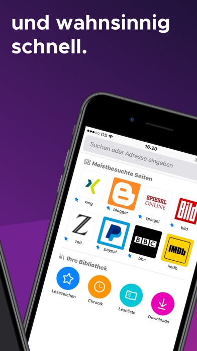 Screenshot for Internet-Browser Firefox in Germany App Store