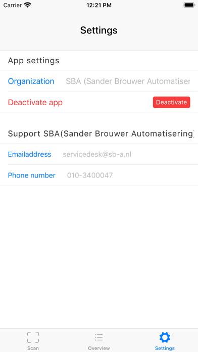 SBA Scan Screenshot