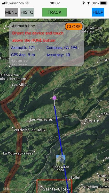 GPS tracking, speed,Compass screenshot-3