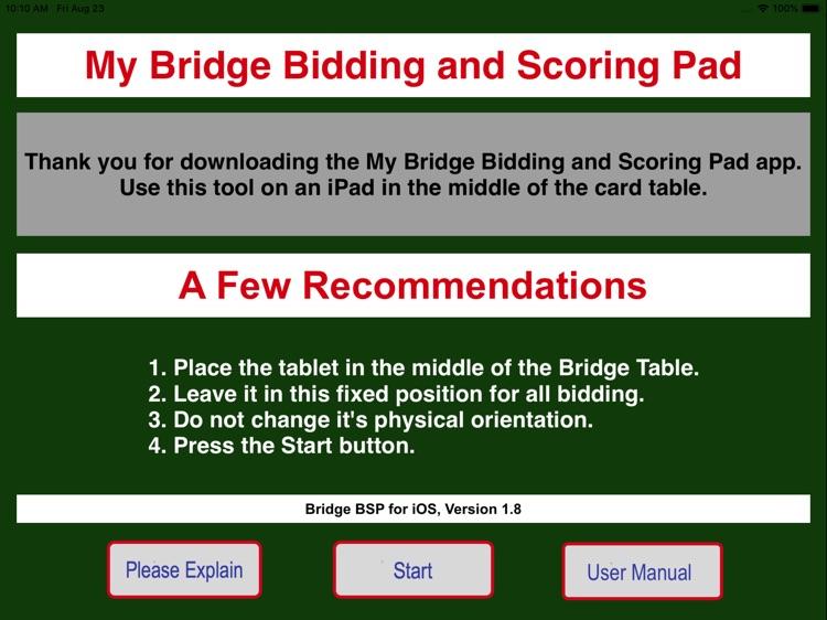 Bridge Bidding & Scoring Pad screenshot-0