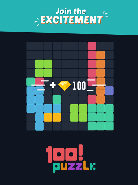 iPad Image of 100! Block Puzzle Color