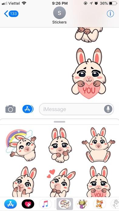 Rabbit Pun Funny Stickers screenshot 3