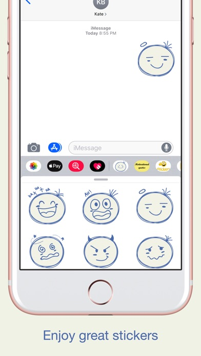 Sketch Smiley Emoji Stickers screenshot 4