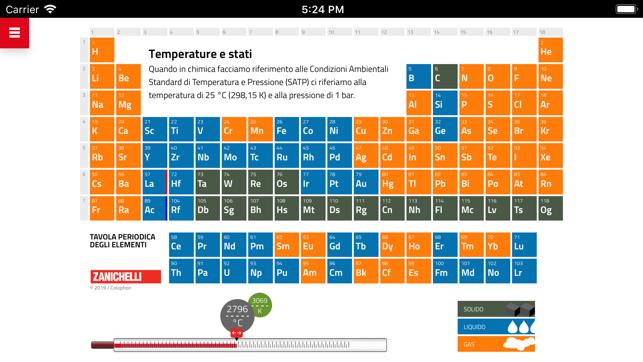 Tavola periodica su app store - Tavola periodica degli elementi chimica zanichelli ...