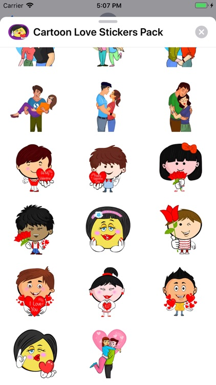 Cartoon Love Stickers Pack