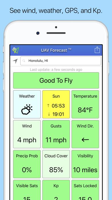 UAV Forecast Screenshot