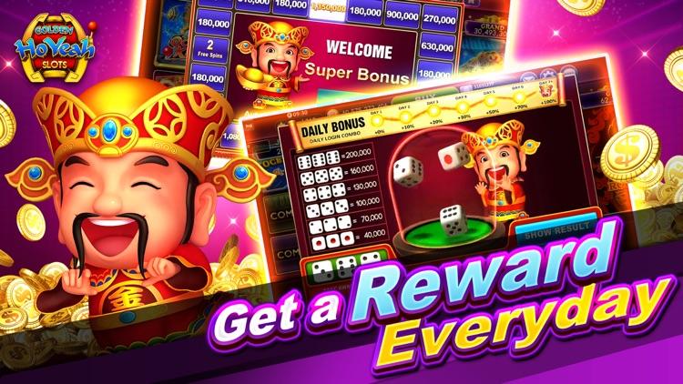 Slots GoldenHoYeah-Casino Slot screenshot-6