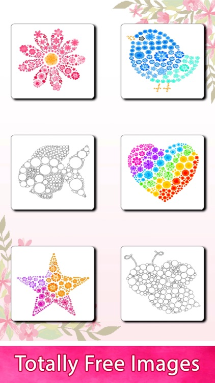 Flowers Art : Color by Number
