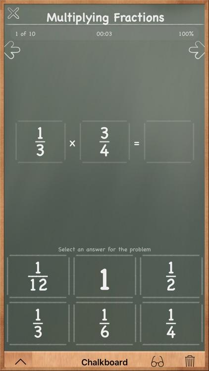 MathBoard Fractions screenshot-3