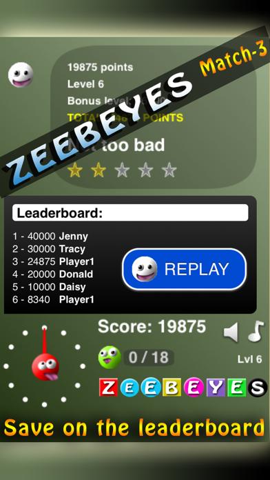 ZeebEyes Match-3 screenshot four