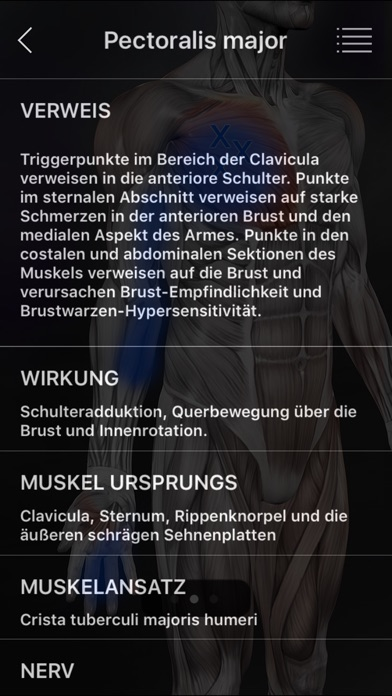Screenshot for Muskel Triggerpunkte in Germany App Store