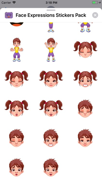 Face Expressions Stickers Pack screenshot-3