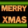 Neon Merry Christmas Stickers