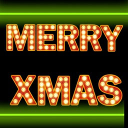 Neon Merry Christmas Stickers