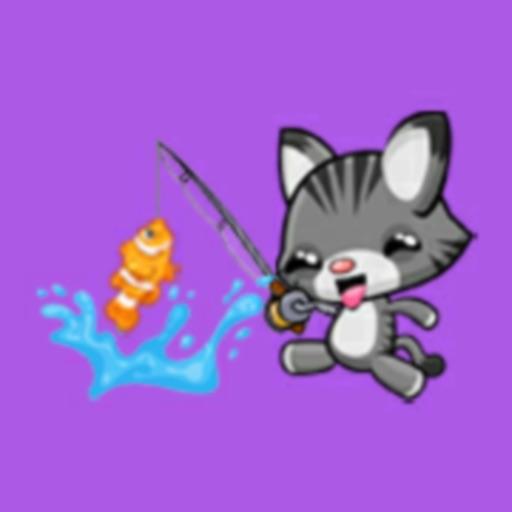 Baby Kitty Fishing