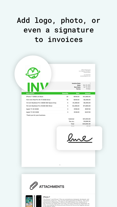 Tiny Invoice - Estimate Maker Screenshot