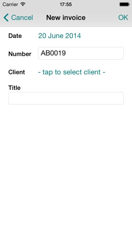 AndyInvoicer Mini screenshot-4
