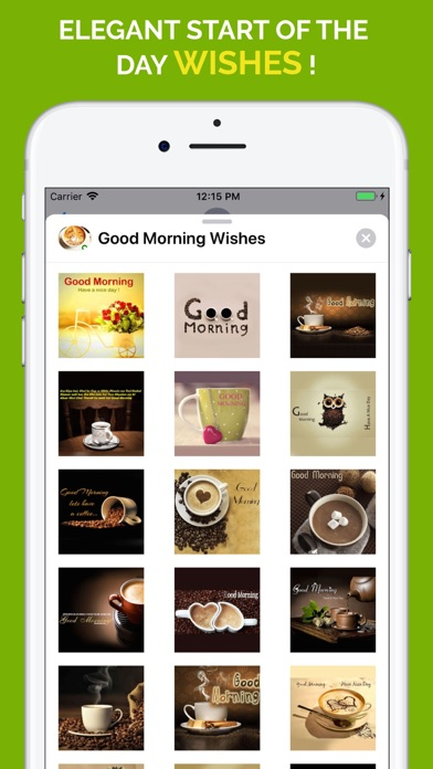 Good Morning Wishes Stickers app image